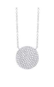 Diamond Pave Circle Necklace