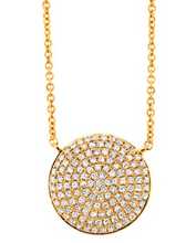Load image into Gallery viewer, Diamond Pave Circle Necklace