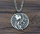 Norse Viking Wolf Pendant Necklace