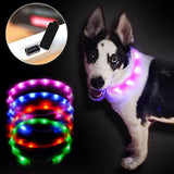 Pet collar led light USB charging