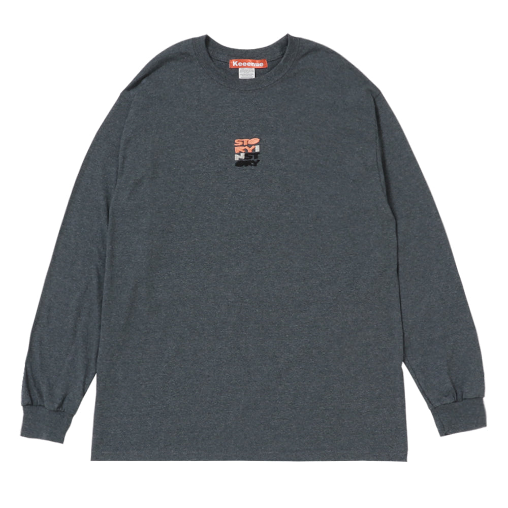 STORY IN STORY LONG SLEEVE TEE -Gray