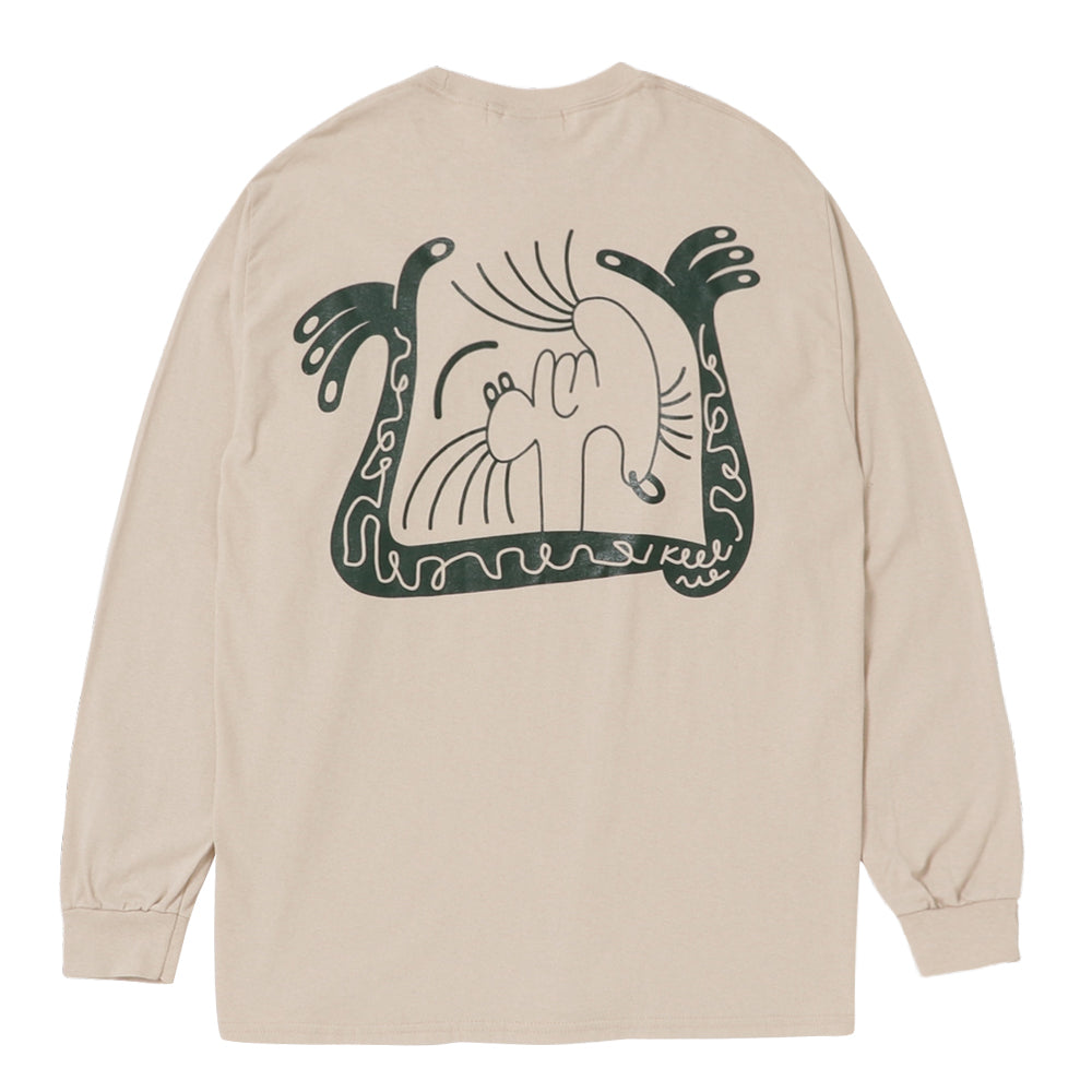 STORY IN STORY LONG SLEEVE TEE -Beige