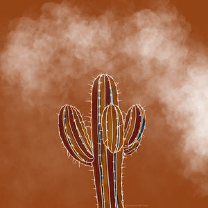 Saguaro Cactus Illustration (Free Coloring Page)