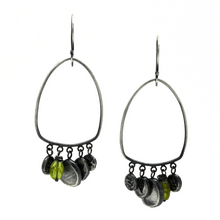 Prehnite & Plant Fossil Earrings