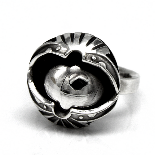 Size 8 Movable Eyeball Ring