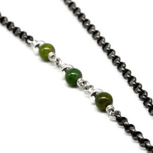 Diamond Chrysoprase Necklace
