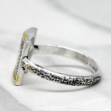 Size 8 Dipped in Gold Diamond Moon Ring
