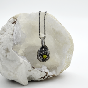 Golden Peridot Necklace