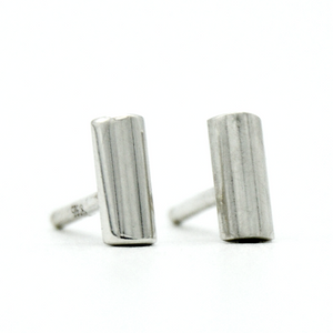 Bar Stud Earrings - Short