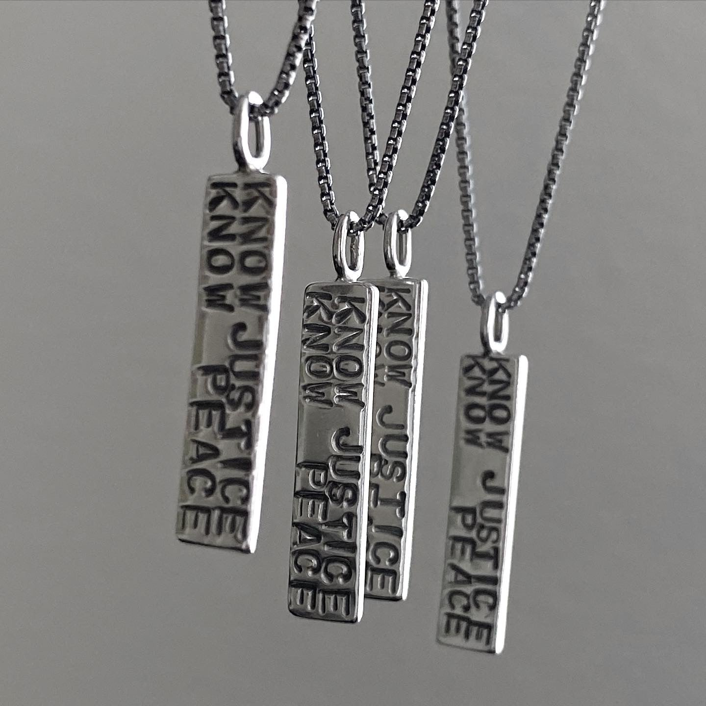 Know Justice Know Peace Necklace