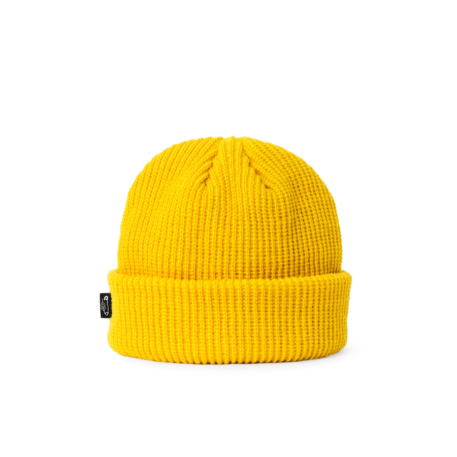 Pin Fisherman Watch Beanie Yellow