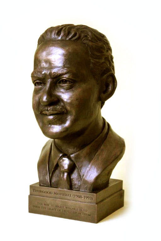 Thurgood Marshall Bronze Desk Bust