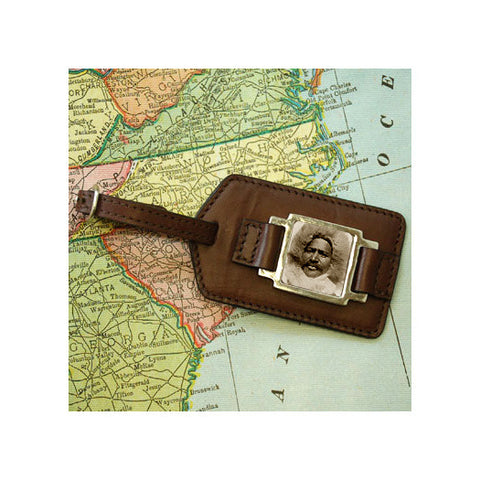 Henson Explorer Leather Luggage Tag