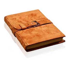 Classic Suede Leather Buckle Journal