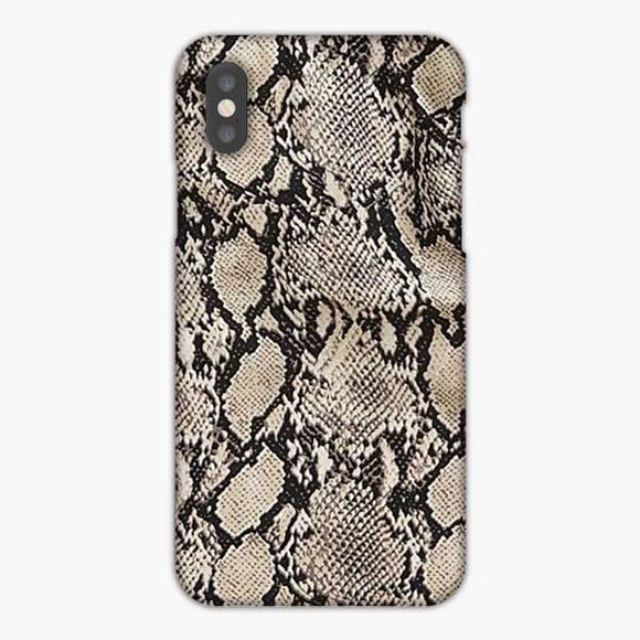 Animal Skin Pattern Snake Texture iPhone XS Max Case, Snap 3D Case