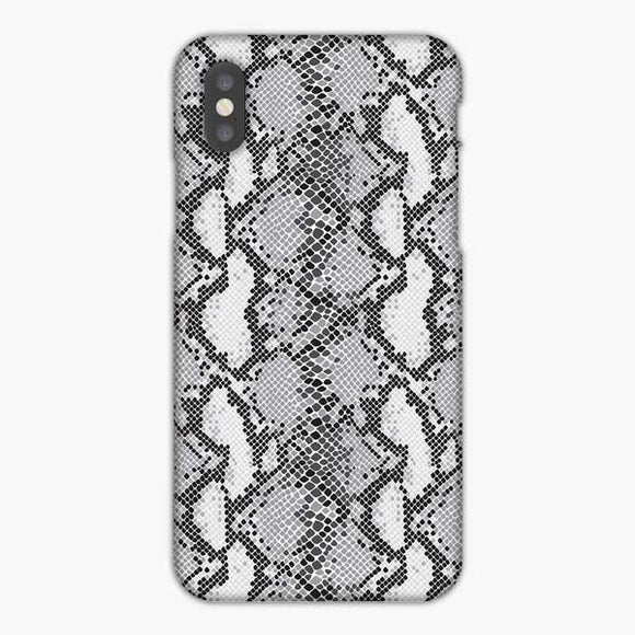 Animal Skin Pattern White And Black Snake iPhone XS Max Case, Snap 3D Case