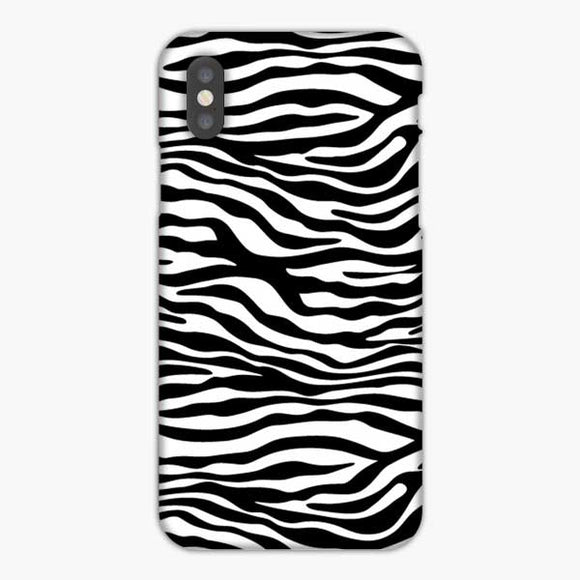 Animal Skin Pattern White Black Zebra iPhone XS Max Case, Snap 3D Case