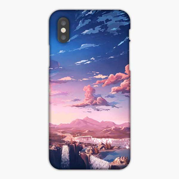 Anime Beautiful Scenery iPhone XS Max Case, Snap 3D Case