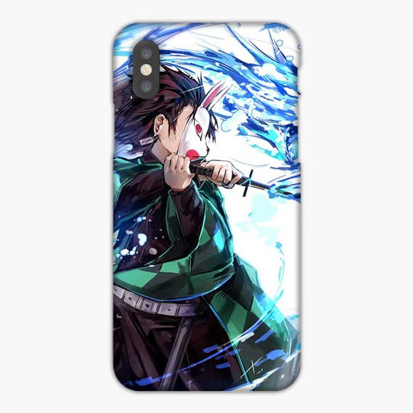 Anime Demon Slayer Blue Power iPhone XS Max Case, Snap 3D Case