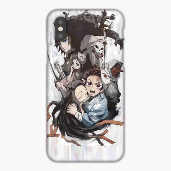 Anime Demon Slayer Grey Background iPhone XS Max Case, Snap 3D Case