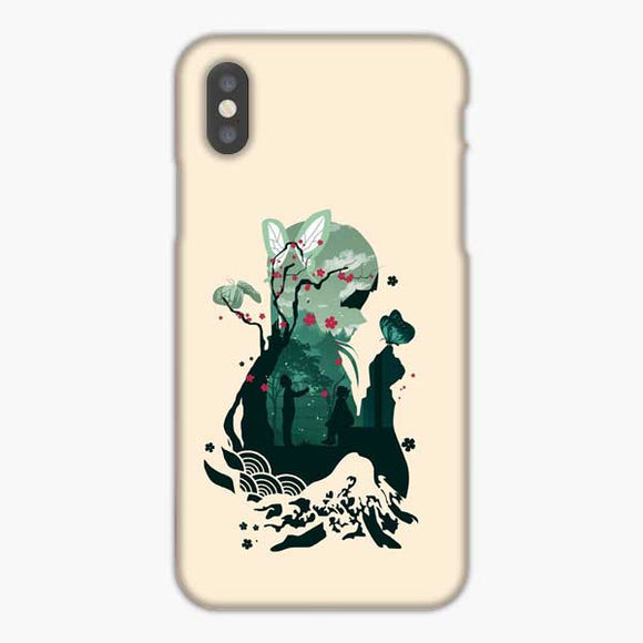 Anime Demon Slayer Pink Background iPhone XS Max Case, Snap 3D Case