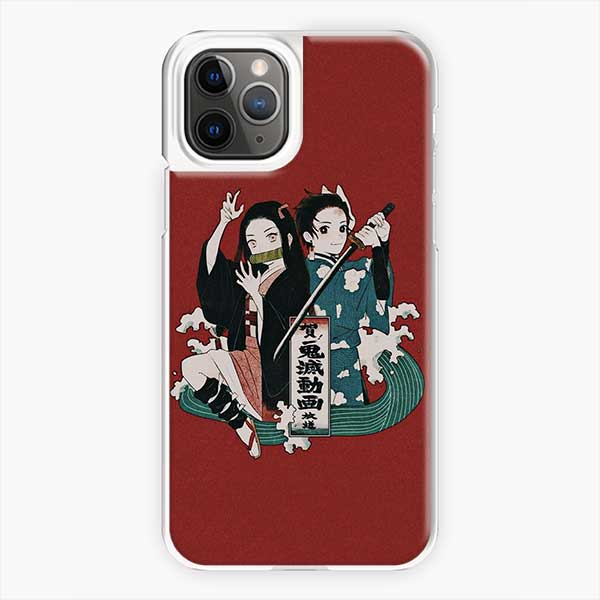 Anime Demon Slayer Red Background Iphone 11 Pro Case