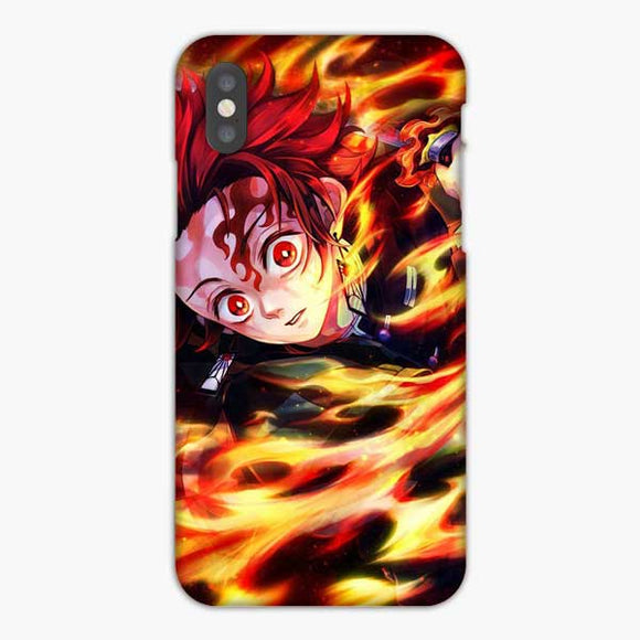Anime Demon Slayer Red Eyes iPhone XS Max Case, Snap 3D Case