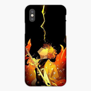 Anime Demon Slayer Yellow Lightning iPhone XS Max Case, Snap 3D Case