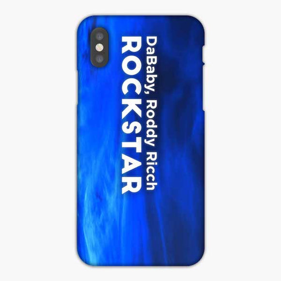 Dababy Rockstar Lyrics Feat Roddy Ricch iPhone XS Max Case, Snap 3D Case