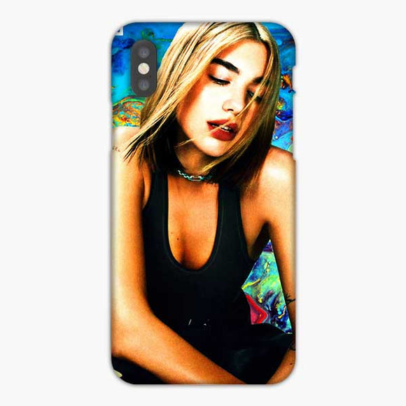 Don't Start Now Dua Lipa Watercolor iPhone XS Max Case, Snap 3D Case