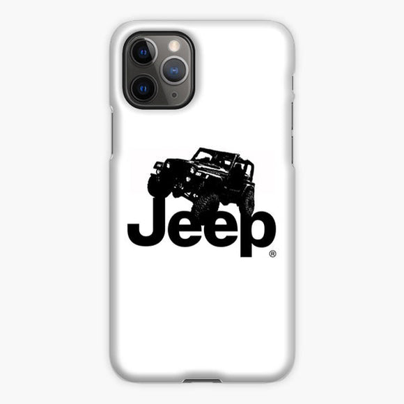 Jeep Wrangler Logo Silhouette iPhone 11 Pro Max Case, Plastic Case, Snap Case & Rubber Case