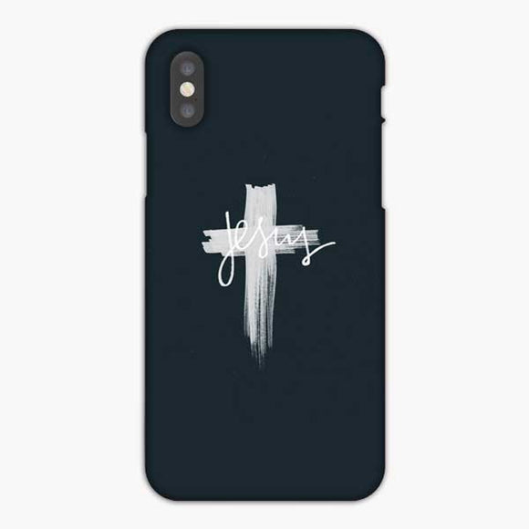 Jesus Is Essential Brush White iPhone X Case, Snap 3D Case