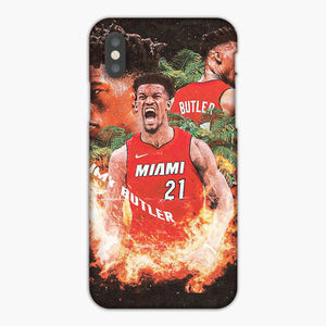 Jimmy Butler Miami Heat Fire Power iPhone XS Case, Plastic Case, Snap Case & Rubber Case