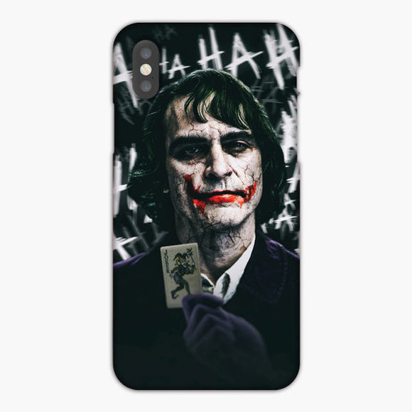 Joaquin Phoenix Joker Poster Artwork iPhone XS Case
