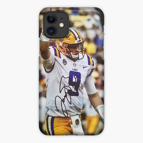 Joe Burrow Lsu Tigers Signature iPhone 11 Case, Plastic Case, Snap Case & Rubber Case