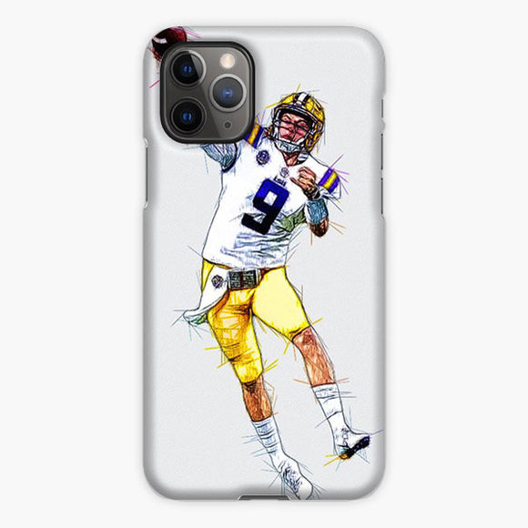 Joe Burrow Lsu Tigers Sketch iPhone 11 Pro Case, Plastic Case, Snap Case & Rubber Case