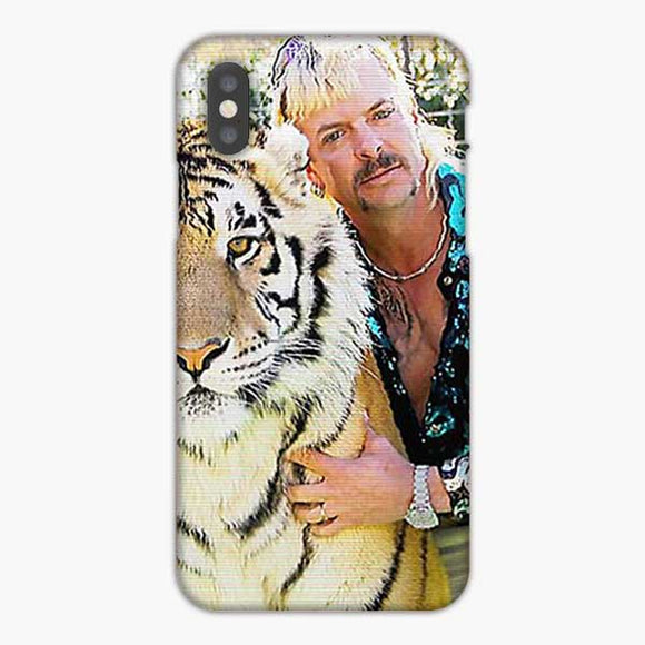Joe Exotic And White Tiger Shadow iPhone X Case, Snap 3D Case