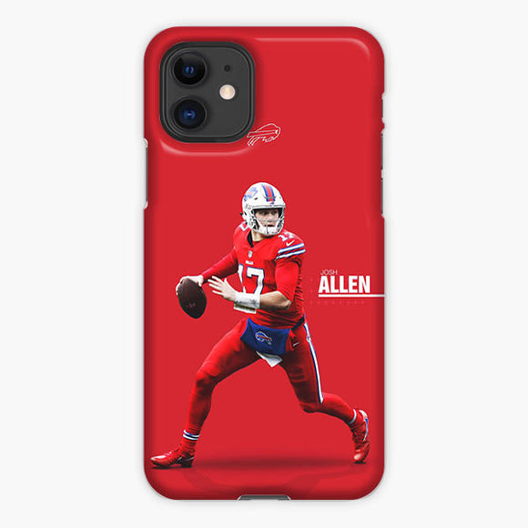 Josh Allen Buffalo Bills Mobile Red iPhone 11 Case, Plastic Case, Snap Case & Rubber Case