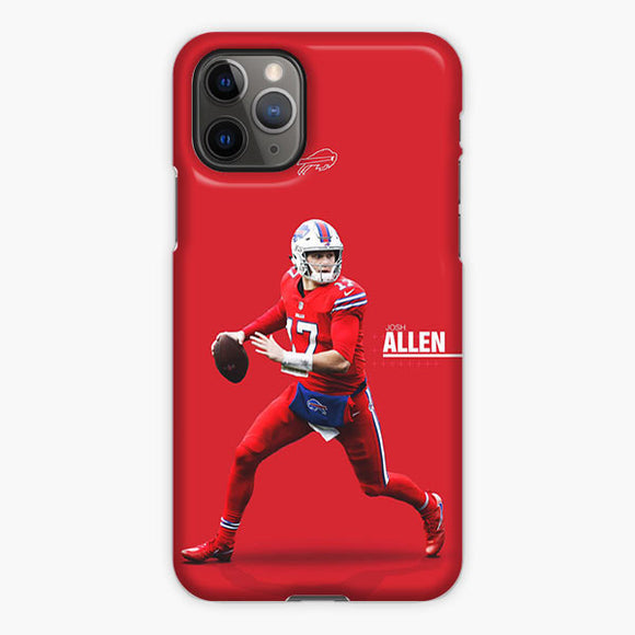 Josh Allen Buffalo Bills Mobile Red iPhone 11 Pro Max Case, Plastic Case, Snap Case & Rubber Case
