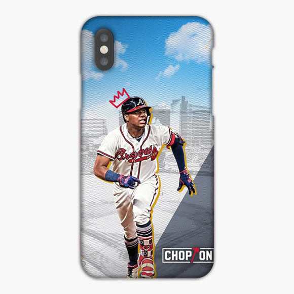 King Ronald Acuna Jr City And Blue Sky iPhone XR Case, Plastic Case, Snap Case & Rubber Case