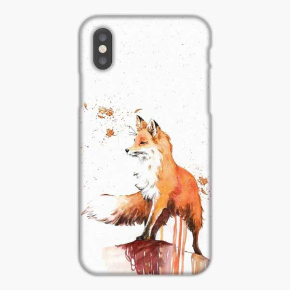 Kitsune Fox And Wisps Watercolor iPhone XS Max Case, Snap 3D Case