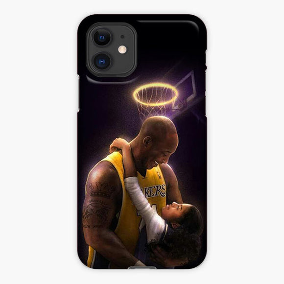 Kobe Bryant And Daughter Gigi Bryant iPhone 11 Case, Plastic Case, Snap Case & Rubber Case