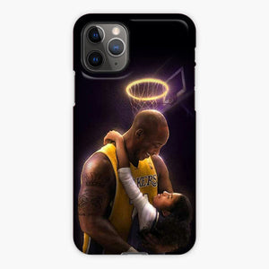 Kobe Bryant And Daughter Gigi Bryant iPhone 11 Pro Max Case, Plastic Case, Snap Case & Rubber Case