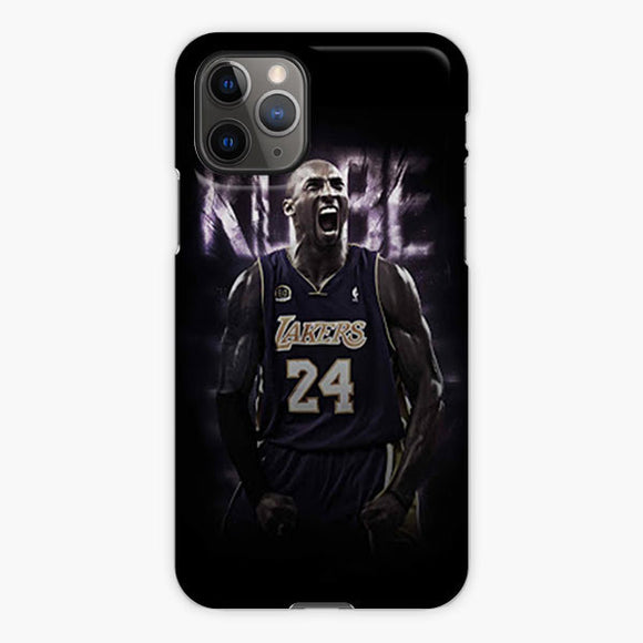 Kobe Bryant La Lakers Best Nba The Black Mamba iPhone 11 Pro Max Case, Plastic Case, Snap Case & Rubber Case