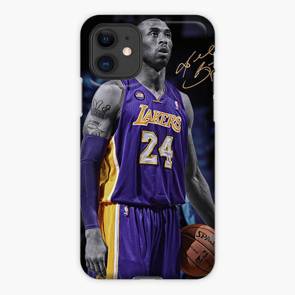 Kobe Bryant La Lakers Tattoo Signature iPhone 11 Case, Plastic Case, Snap Case & Rubber Case