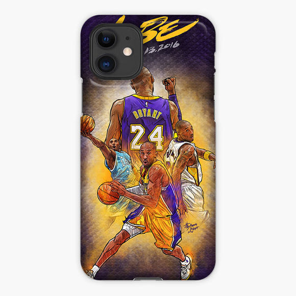 Kobe Bryant Retirement Game Illustration iPhone 11 Case, Plastic Case, Snap Case & Rubber Case