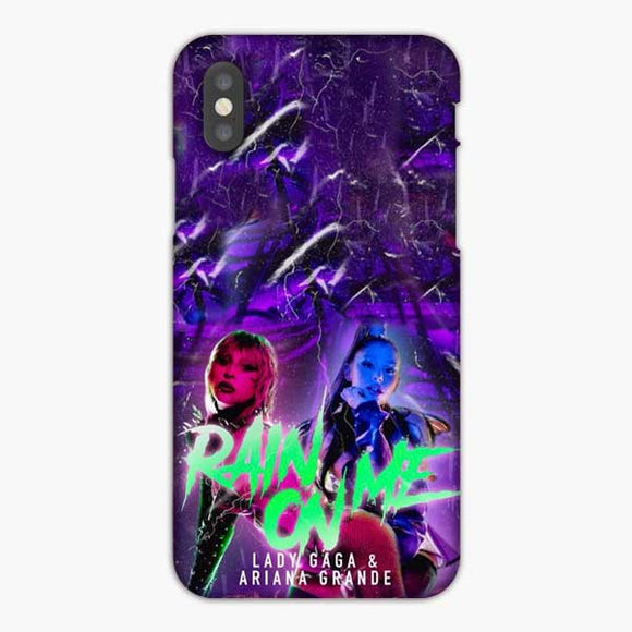 Lady Gaga And Ariana Grandes Rain On Me Style Poto iPhone XS Max Case, Snap 3D Case
