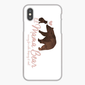 Lil Mama Bear Caring For Cubs iPhone XR Case, Plastic Case, Snap Case & Rubber Case