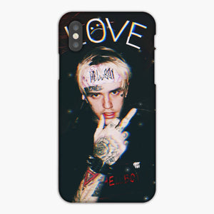 Lil Peep Cry Love Black iPhone XS Max Case, Plastic Case, Snap Case & Rubber Case