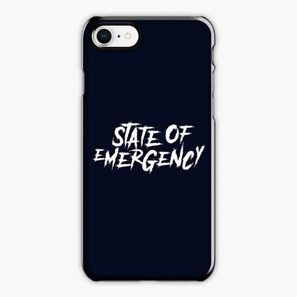 Lil Tjay State Of Emergency White iPhone 8 Plus Case, Plastic Black